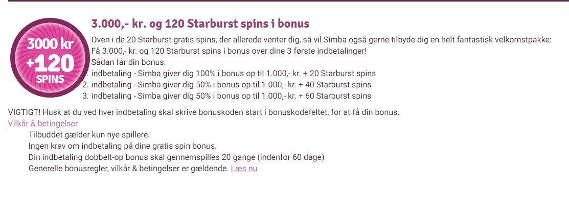 simba bonus