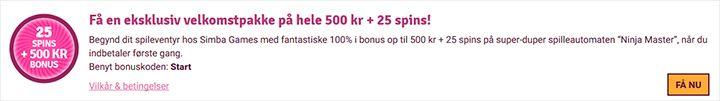 SimbaGames bonus