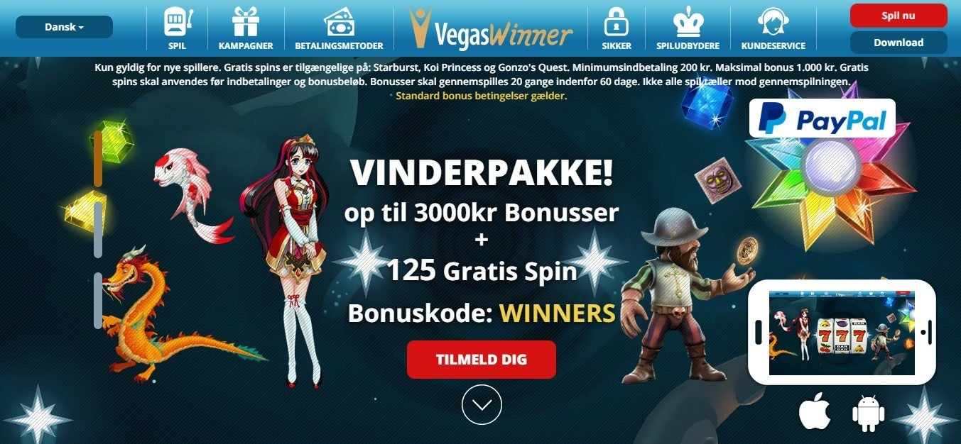 Vegaswinner lobby