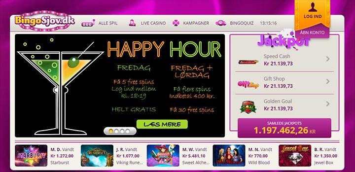 BingoSjov Casino main page