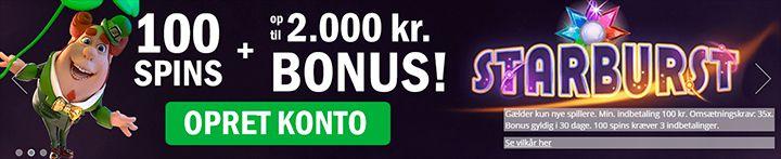 Casinosjov.dk bonus