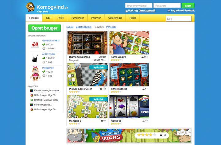 Komogvind main page