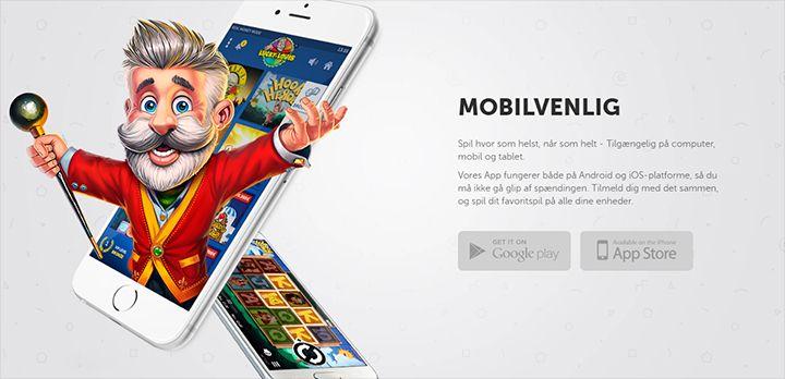 Lucky Louis mobilen app